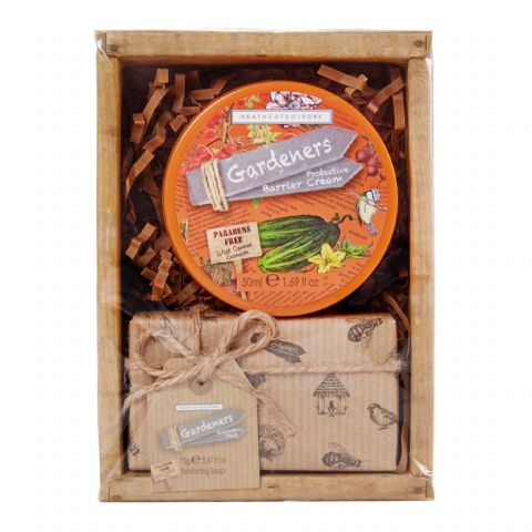 Mini Hamper Gift Set Barrier Cream Exfoliating Soap - Gardeners Collection Heathcote & Ivory